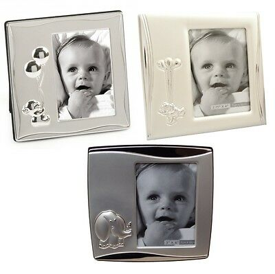 Baby Photo Frame Silver Plated Teddy Elephant New Born Christening Shower Gift