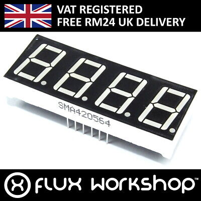 4 Digit Seven Segment Red LED Display 0.56 SM420564 Arduino Pi Flux Workshop