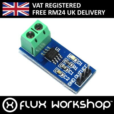 ACS712ELC-05B 5A Current Sensor Module Ammeter Arduino Pi Hall Flux Workshop