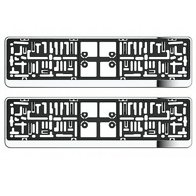 2X Chrome Number Plate Holder Surrounds For Subaru Forester Ipreza Legacy