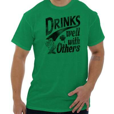 172fa355e Drinks Well With Others St Patricks Day Beer Drunk Funny Gift T Shirt Tee