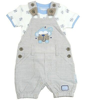 BABYPREM Baby Clothes Boys Two Piece Dungaree & T-Shirt Top Set Outfit NB 3 6 m