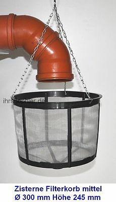 Cistern Filter basket Rain Water Strainer for tanks 30 cm NEW