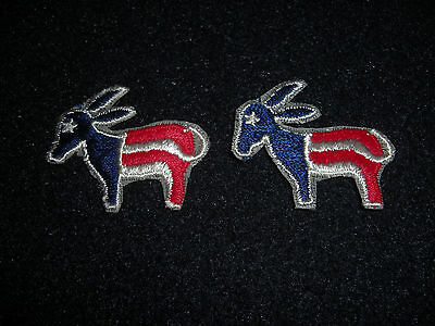 Democratic Shirt Or Hat Patches Lot of 2  1976 Sew On