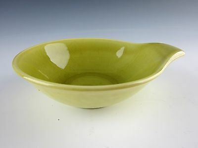 Steubenville Pottery AMERICAN MODERN Chartreuse Lugged Soup Bowl