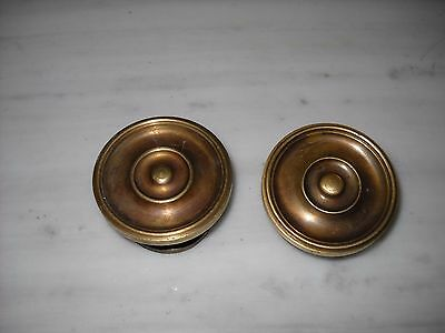 Pair of Greece Vintage Solid Brass Door Knobs Handles Push/Pull #1