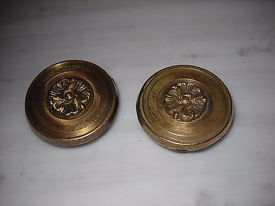 Pair of Greece Vintage rare Solid Brass Door Knobs Handles D-02
