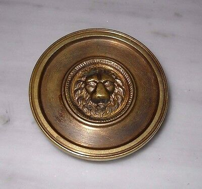 Vintage Greece solid brass large door knob handle D16