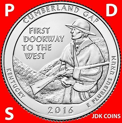 2016 Pds Cumberland Gap National Park (Kentucky) Three Quarters Set Uncirculated