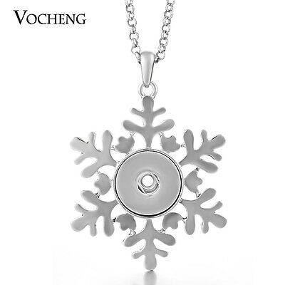 10PCS/Lot Christmas Necklace Snap Jewelry Stainless Steel Chain NN-271*10