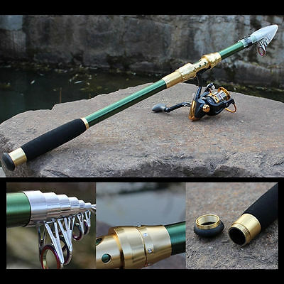 Superhard Carbon Telescopic Fishing Rod 7Section Spinning Lure Fishing Tackle