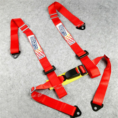 Red Universal JDM Car Auto Racing Sport Seat Belt Safety Harness Strap