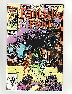 Fantastic Four #291 - 9.6 Near Mint + Beautiful Copy! Action Comics 1 Homage!