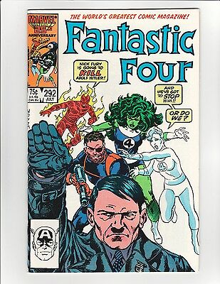 Fantastic Four #292 - John Byrne Adolf Hitler Cover! - 9.6 Near Mint + High Res!