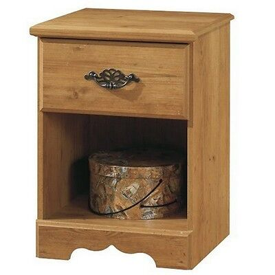 South Shore Prairie 1-Drawer Nightstand, Country Pine