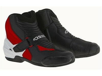Alpinestars SMX 1 R Chaussures sw blanc rouge sportifs Moto Course
