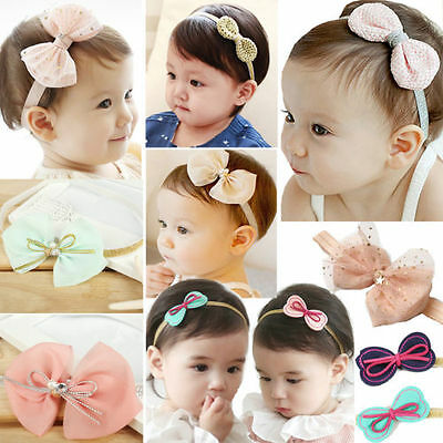 NT Kids Baby Girl Toddler Bow Headband Hair Band Headwear Hair Accessories