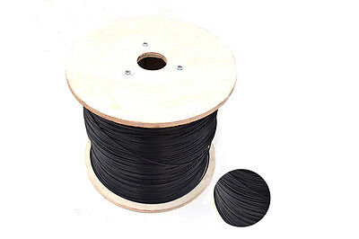 1meter SS304 3.0MM  PVC Nylon black plastic coated stainless steel wire rope