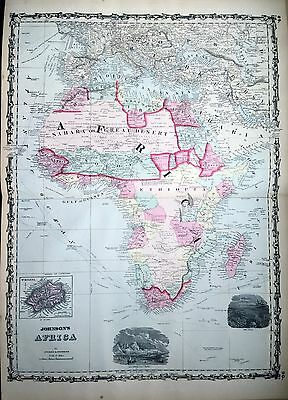 Johnson 1862 Map of Africa