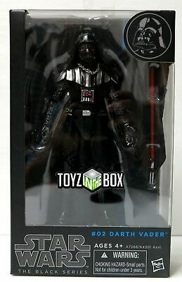 "In STOCK Hasbro Star Wars The Black Series #02 ""Darth Vader"" 6 In Action Figure"