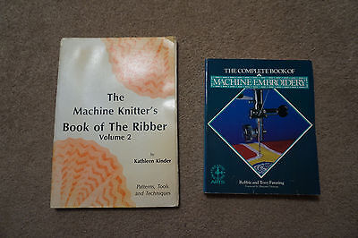 Lot of knitting books Kathleen Kinder Machine Knitter's Book of the Ribber Vol 2
