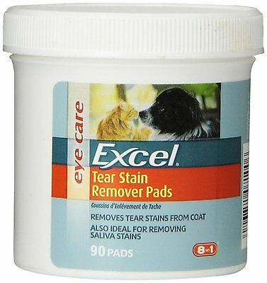8-in-1 non-irritating Tear Stain Remover Pads 90-count by Excel [308666] AOI NEW