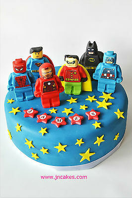 super heroes cake toppers edible sugar paste personalised birthday unofficial