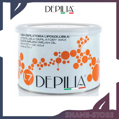 Depilia Cera Depilatoria In Barattolo Liposolubile Olio Di Argan 400 Ml