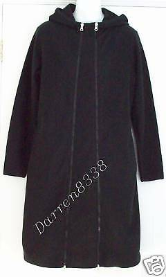 New~Jojo Maman Bebe~Black Fleece Maternity Coat Jacket 8 Removeable Panel