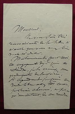 1869 Paris AMBROISE THOMAS - Komponist Mignon+  Hamlet - eigh. Brief ALS