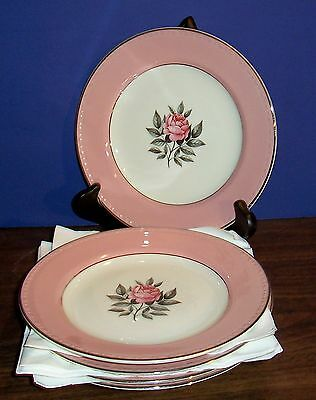 5 Pc. Cunningham And Pickett Norway Rose Dessert / Salad Plate 7""