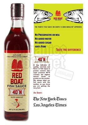 Red Boat Fish Sauce 40  N (Paleo Approved) 500ml