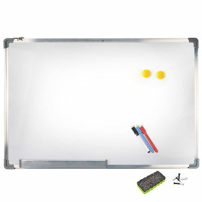 90x60cm Magnetic Whiteboard Office Writing Board Aluminium Markers Magnet Eraser