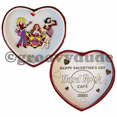 Hard Rock Cafe Online Pin 2002 Valentine Hot Girl Band Pin Heart Puzzle Boxed Le