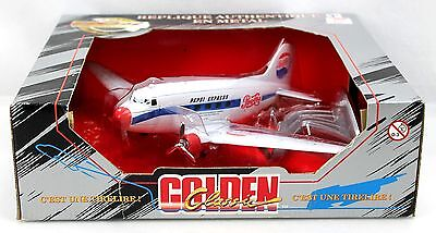 Pepsi Cola Diecast Airplane Coin Bank Special Edition Golden Wheel 1997