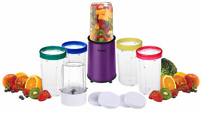 Stainless Steel Bullet Nutrition Blender Magic Drink Mixer Food Processor Purple
