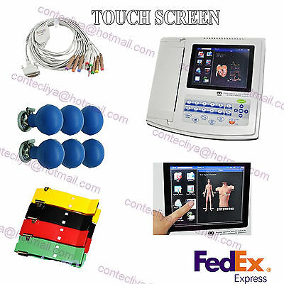 Digital 12 Channel 12 lead ECG/EKG machine+software Electrocardiograph US seller