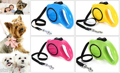 Automatic 3M Retractable Dog Puppy Pet Leash Lead Walking Traction Safety Rope