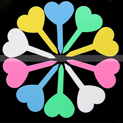50pcs 4.5cm x8.5cm Plant Love Tags Markers Nursery Tray Garden Labels Tools Gray