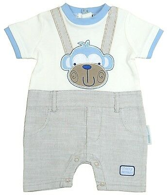 BabyPrem Baby Clothes Boys Cotton Romper Playsuit All-in-One Monkey Clothing