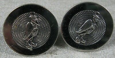 Vintage 1950's-60's Old Crow Kentucky Whiskey Cufflinks