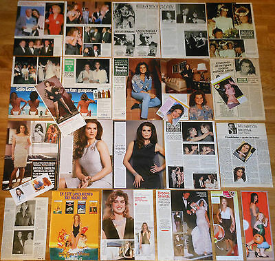 BROOKE SHIELDS spanish clippings 1980s/10s sexy photos magazine articles