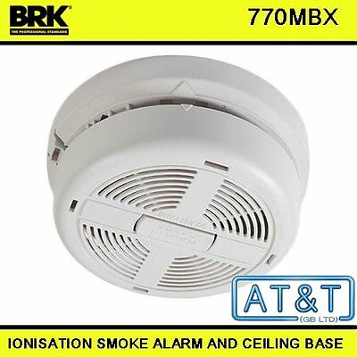 Smoke Alarm Brk 770Mbx Ionisation Mains Powered With 9V Battery Back Up Included
