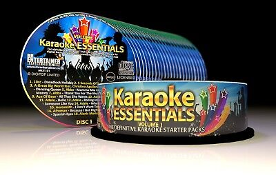 Mr Entertainer Karaoke Essentials - 27 x CD+G (CDG) Disc Package 500 Songs