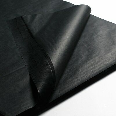 """100 x BLACK SHEETS OF ACID FREE TISSUE WRAPPING PAPER SIZE 450 X 700MM 18 X 28"""""""