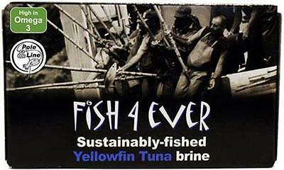 Fish 4 Ever Yellowfin Tuna in Brine 120g
