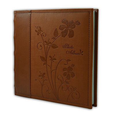"Faux Leather Photo Album, Holds 200 4""x6"" Pictures, 2 Per Pages, P52028-6 Brown"
