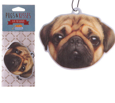 Novelty Car Air Freshener Pug gift for home van ideal present cute Peach scented