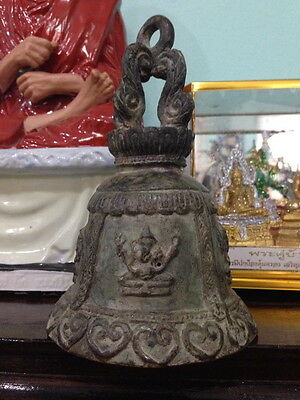 Bell Antique Old Look Style Chime Goodluck Ganesha Wind Thai Buddha Temple Hang