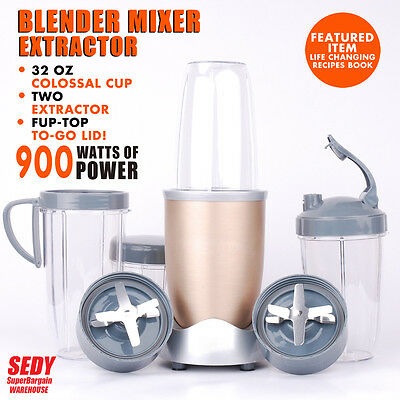 NEW Nutri Bullet PRO 15 pieces 900W Blender Mixer Extractor Healthy Juice Maker